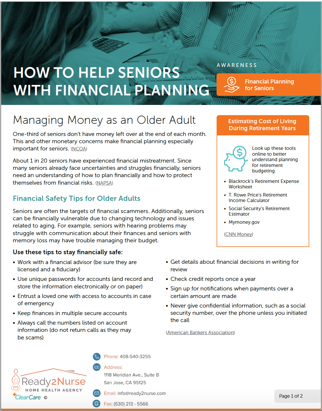 How to Help Seniors with Financial Planning
