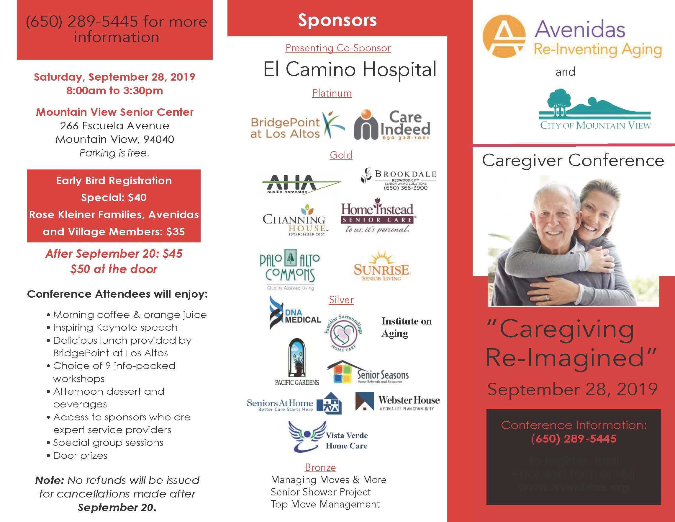 """Avenidas 2019 Caregiver Conference: """"Caregiving Re-Imagined"""""""