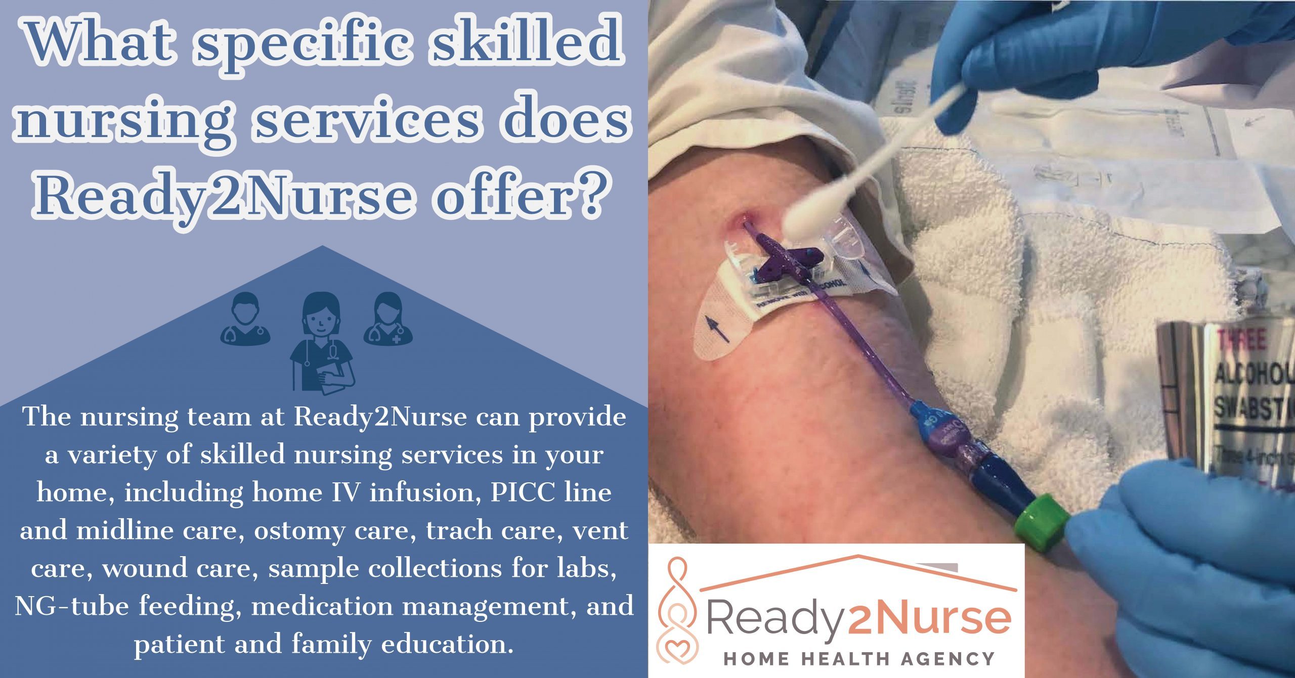 What specific skilled nursing services does Ready2Nurse offer?