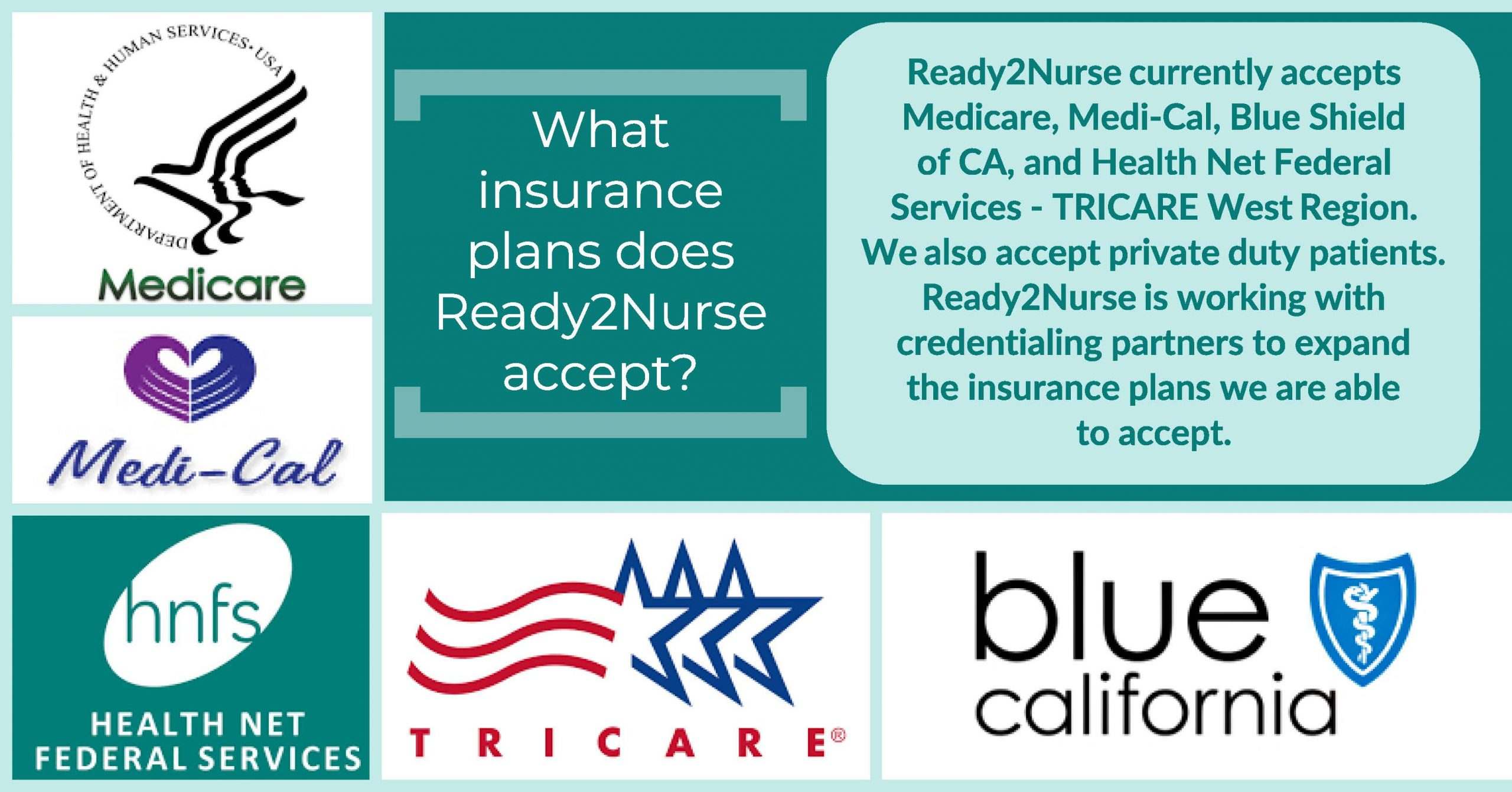 What insurance plans does Ready2Nurse accept?