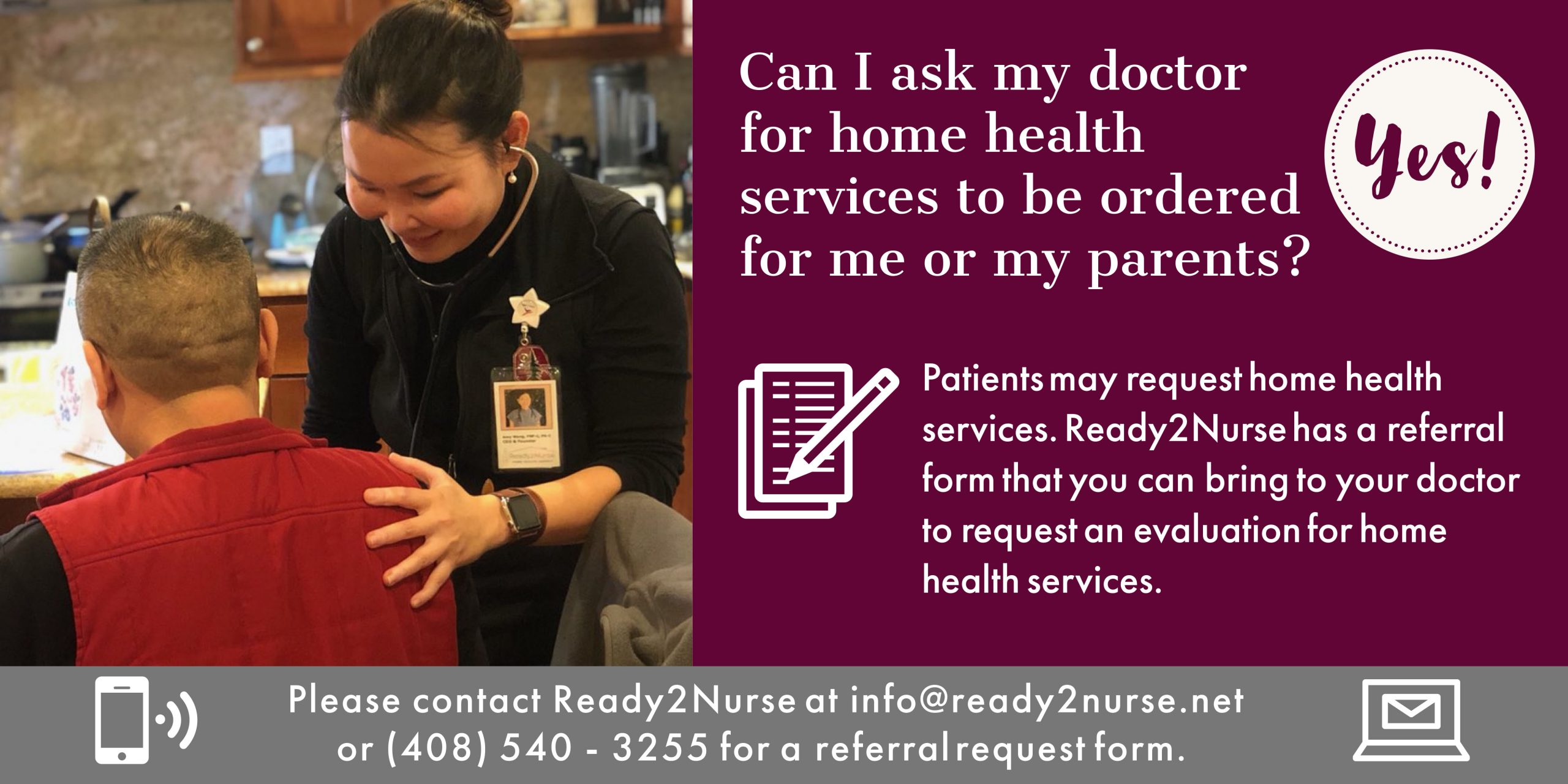 Can I ask my doctor for home health services to be ordered for me or my parents?