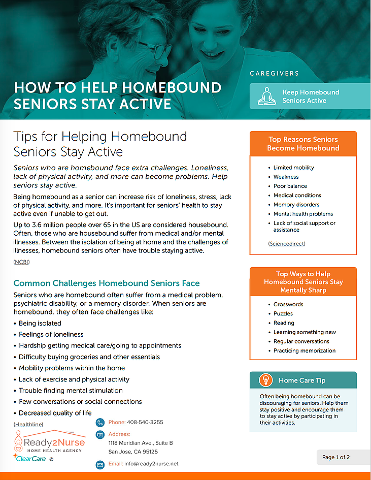 How to Help Homebound Seniors Stay Active