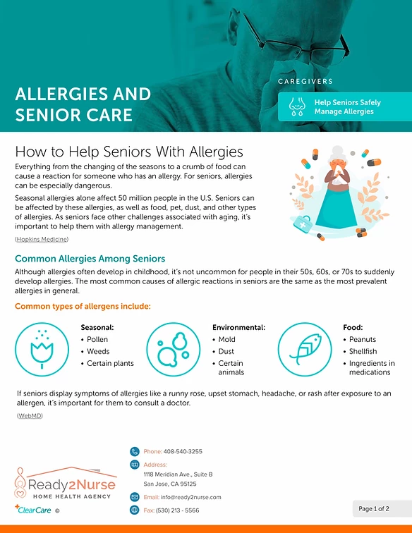 Help Seniors Safely Manage Allergies