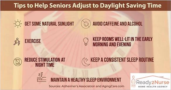 Tips to Help Seniors Adjust to Daylight Saving Time