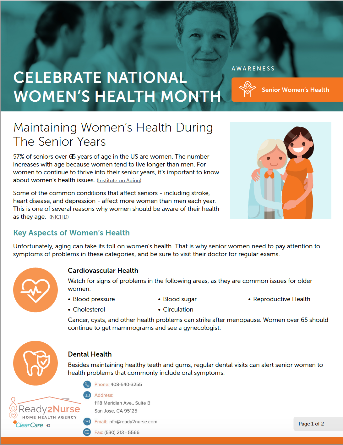 Maintaining Women's Health During the Senior Years
